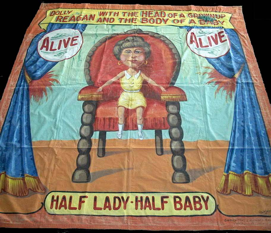 Dolly Reagan sideshow banner by Fred G. Johnson