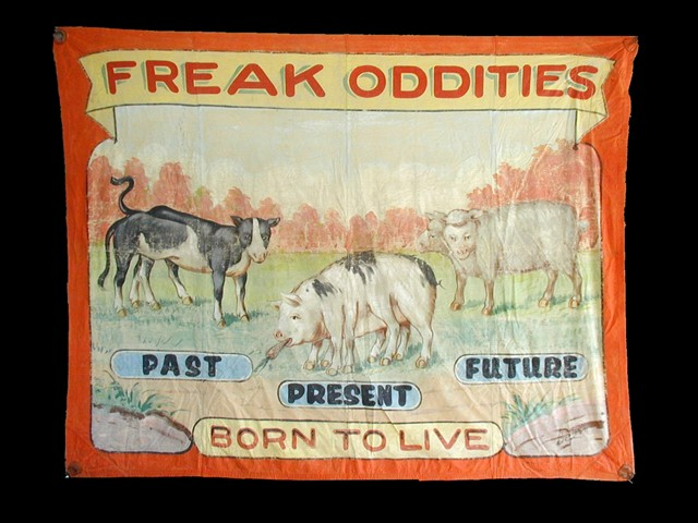 Freak oddities sideshow banner by Fred G. Johnson