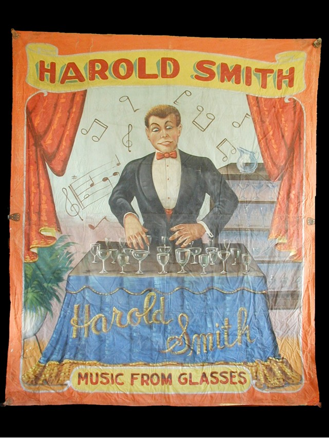 Harold Smith sideshow banner by Fred G. Johnson