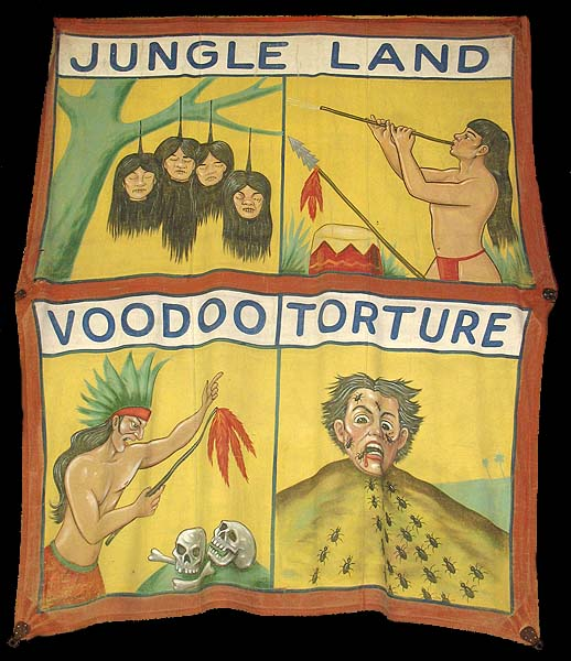 jungle land sideshow banner by Fred G. Johnson