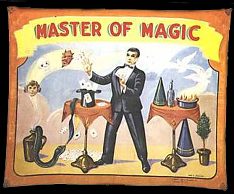 Master of Magic sideshow banner by Fred G. Johnson