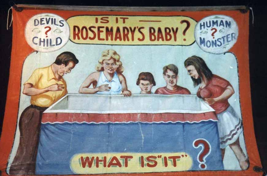 Rosemary's Baby sideshow banner by Fred G. Johnson