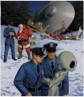 Santa UFO accident