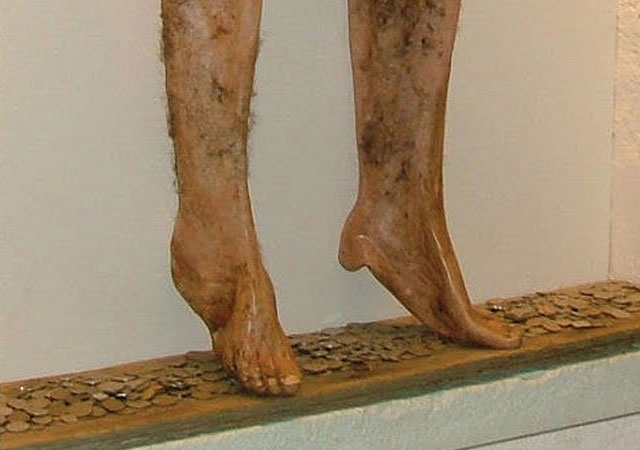 Necropants on display at the Strandagaldur Museum of Icelandic Sorcery & Witchcraft