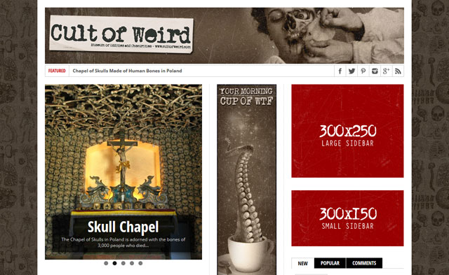 Advertise on Cult of Weird