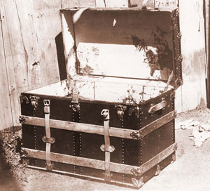 The trunk which held the body of Emma LeDoux's murdered husband