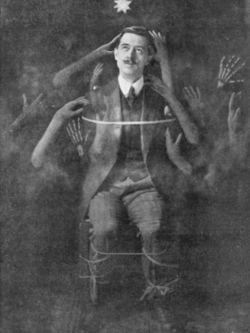Vintage Victorian-era spiritualist photo