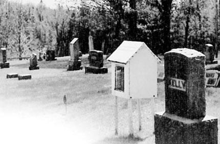 The original dollhouse grave marker of Dorothy Marie Harvey