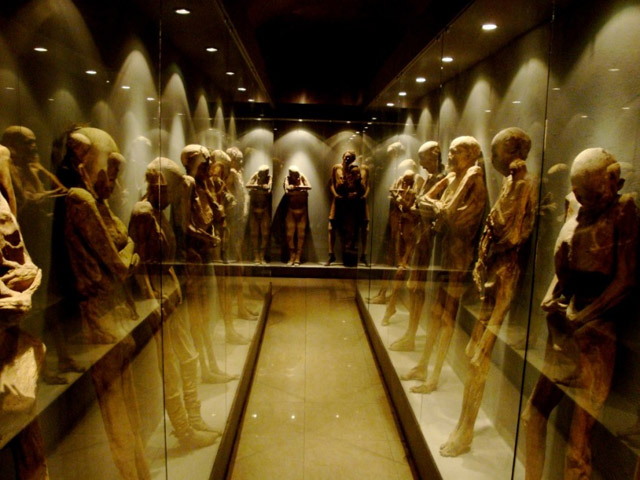 Las Momias de Guanajuato mummies on display in Mexico
