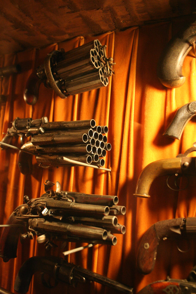 Flintlock guns on display at the House on the Rock