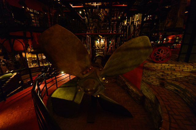 Giant ship propeller inside the House on the Rock's Organ Room