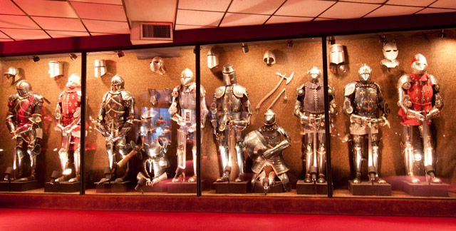 Suits of armor on display at the House on the Rock