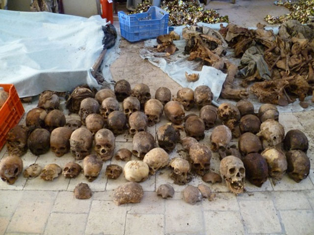 19th century human remains found beneath a church in Italy