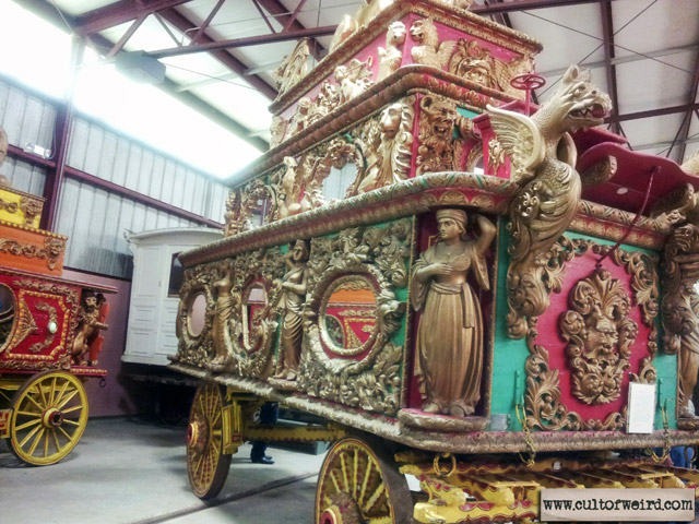 Vintage circus wagons at Circus World Museum in Baraboo, WI
