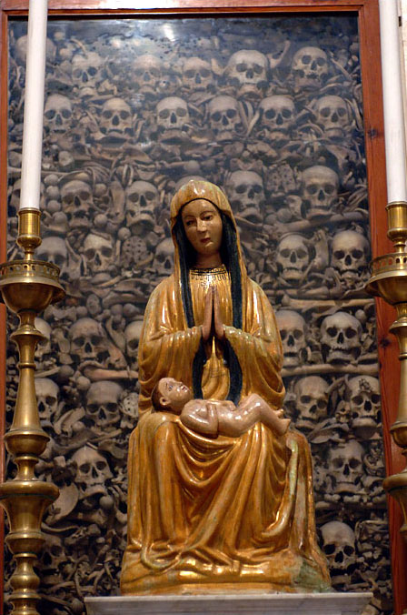 The Madonna watches over the remains of 800 beheaded martyrs in the Otranto cathedral