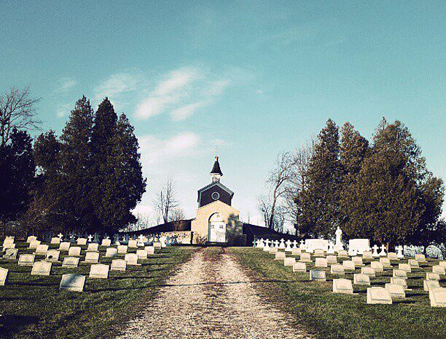 St. Nazianz cemetery of priests and the crypt of Father Oschwald