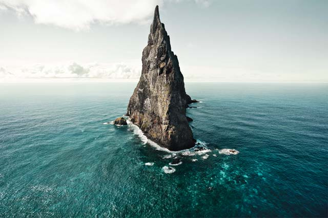 Ball's Pyramid, where 24 Lord Howe Island stick insects were found surviving on a single plant in 2001