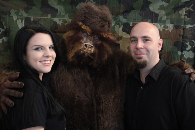Bigfoot photo booth at the Milwaukee Paranormal Conference