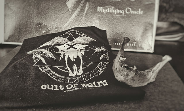 Cult of Weird t-shirts will be available at the Milwaukee Paranormal Conference