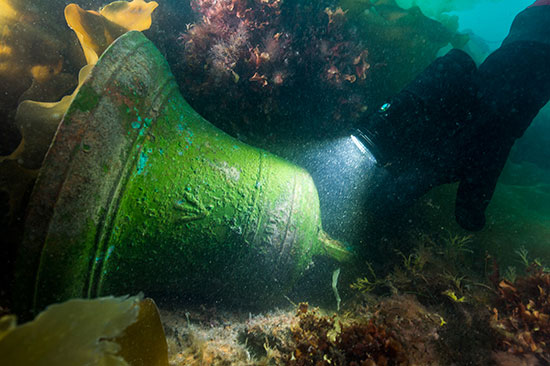 The brass bell from the HMS Erebus