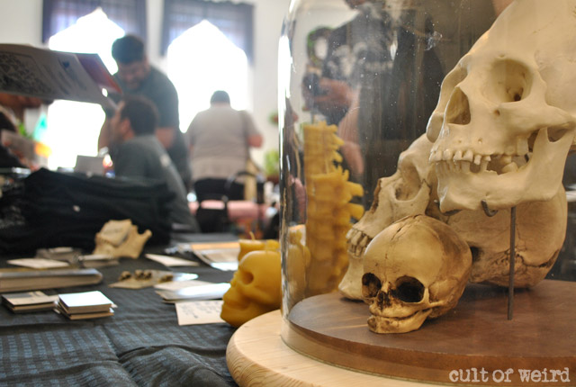 Skulls at the Cult of Weird table