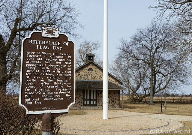 The birthplace of Flag Day in Waubeka, Wisconsin