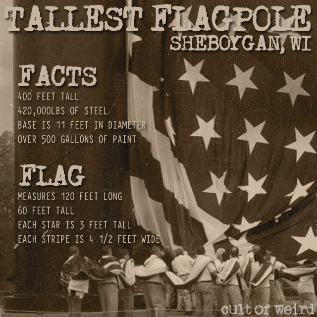 Facts about the world's tallest flagpole in Sheboygan, WI