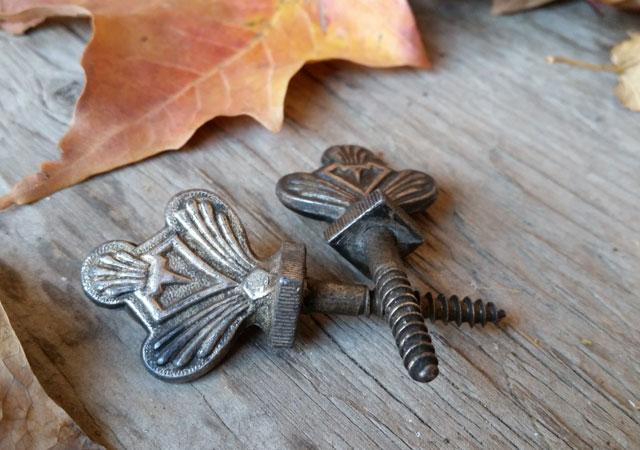 Antique decorative coffin screws
