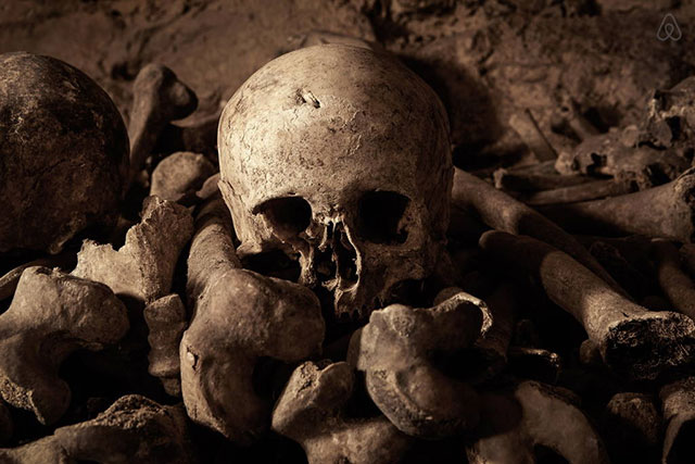 The dead will watch you sleep in the Paris catacombs