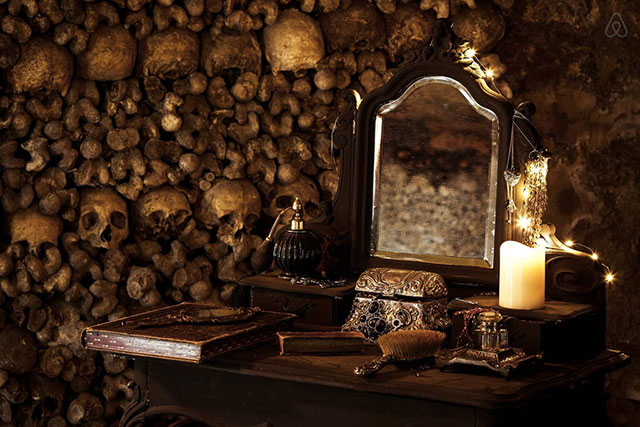 Your bedroom in the Paris catacombs