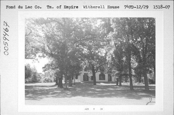 Historical photo of the abandoned Witherell house in Fond du Lac
