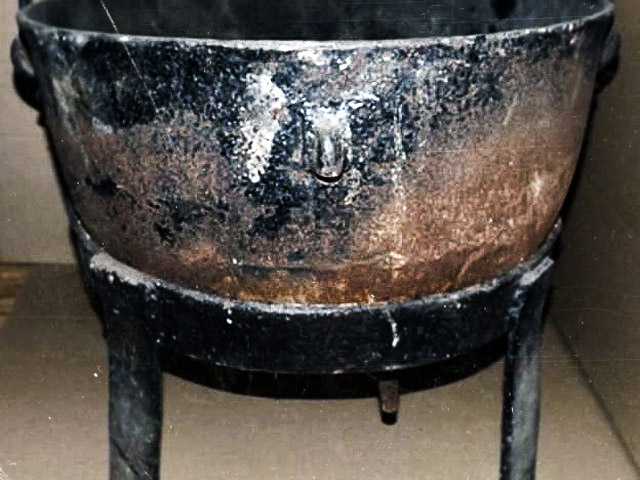 A cauldron that belonged to Wisconsin serial killer Ed Gein