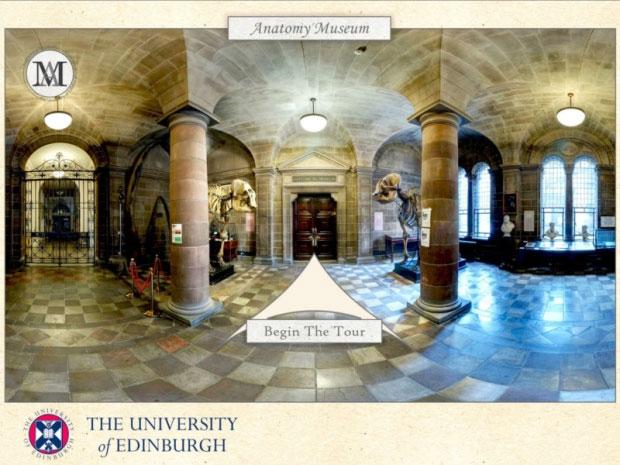 Virtual tour of the Edinburgh Anatomy Museum