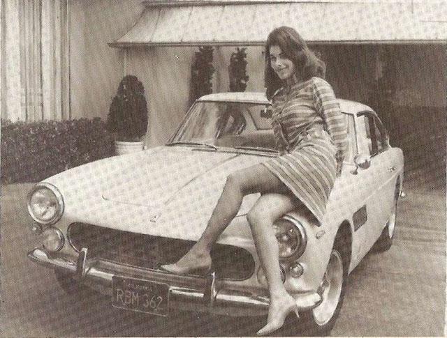 Sandra West and her Ferrari