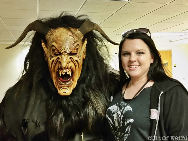 Christina with one of the Minnesota Krampus