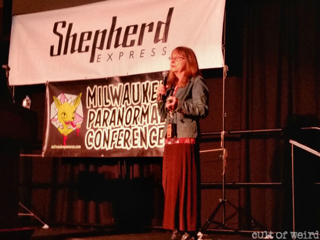 Linda Godfrey speaking about sightings of dogmen in the Midwest