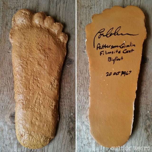Bigfoot cast signed by Loren Coleman