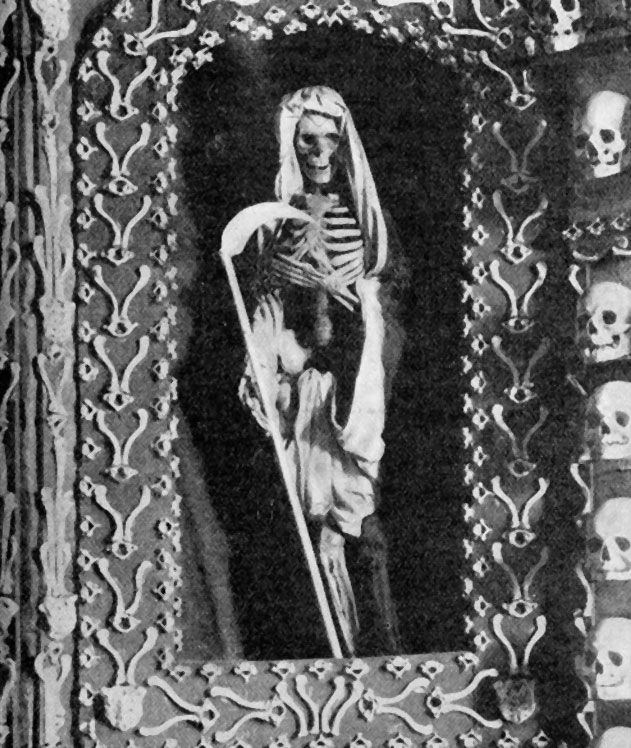 A reaper in the Chapel of Bones