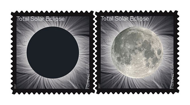 Total Solar Eclipse stamps from USPS