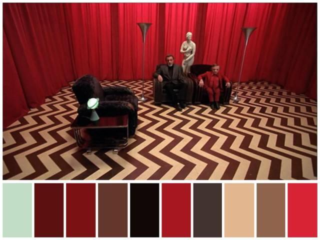 Twin Peaks Red Room Room color palette