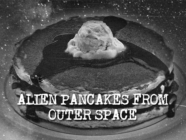 Alien pancakes served from a UFO in Eagle River, Wisconsin