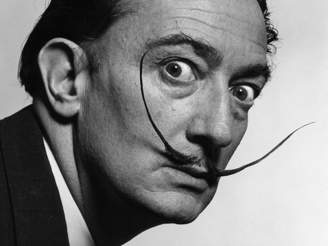 Salvador Dali's mustache found intact when his remaines were exhumed