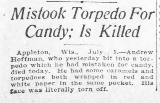 Man mistakes fireworks for candy