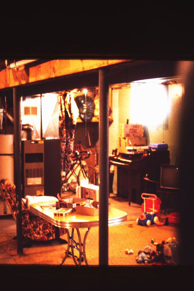 The basement of the haunted Tallmann house in Horicon, WI