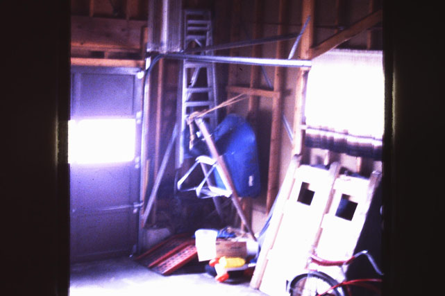 The garage of the haunted Tallmann house in Horicon, WI