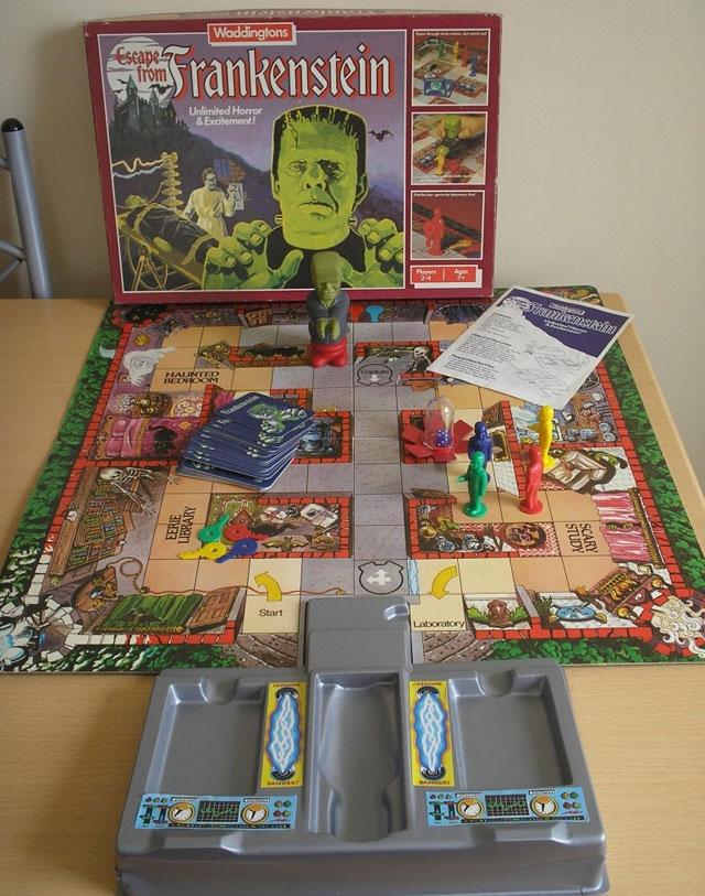 Escape from Frankenstein vintage game