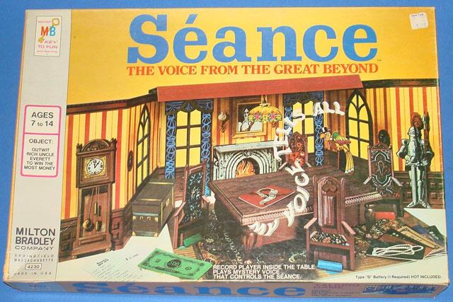 Seance spooky vintage board game by Milton Bradley