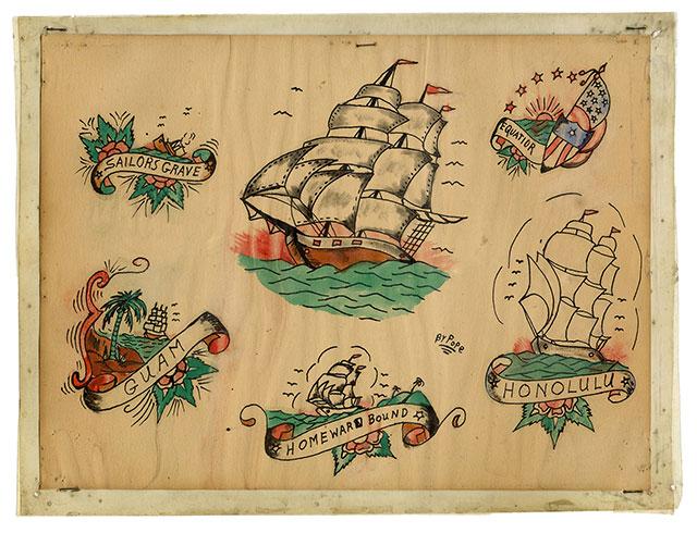 Jerry Pope naval tattoo art