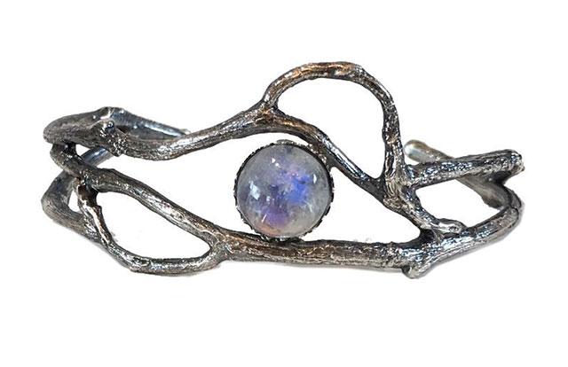 Twig and vine moonstone bracelet