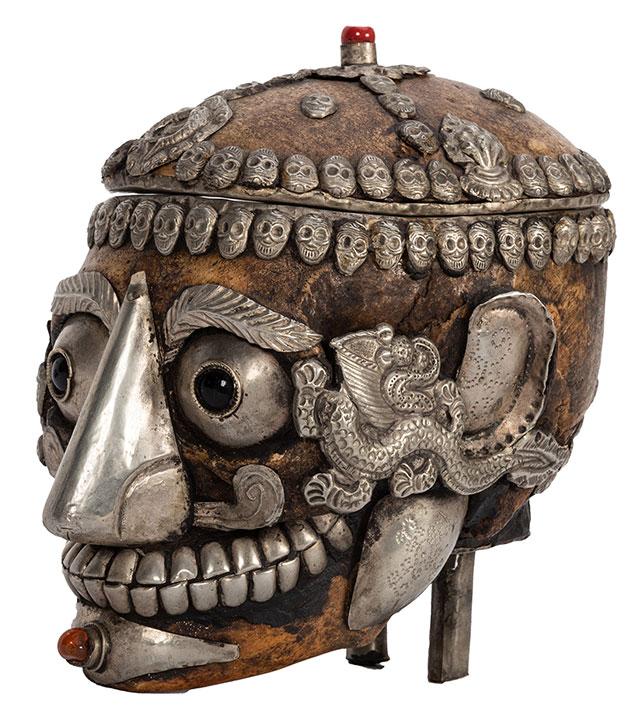 Tibetan kapala skull